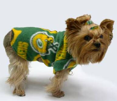 Green Bay Packers Fleece dog clothes