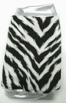 Zebra with Silver with silver trim