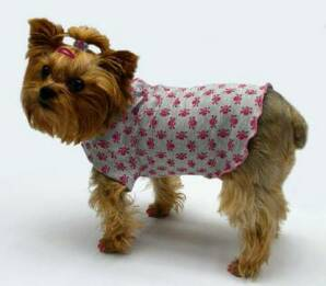 Gray and Pink Skulls dog clothes
