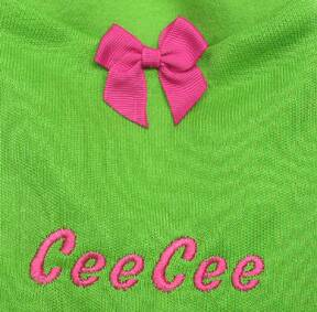 Lime Green Cashmere-Like Sweater monogram