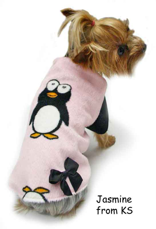 penguins faux fur dog clothes