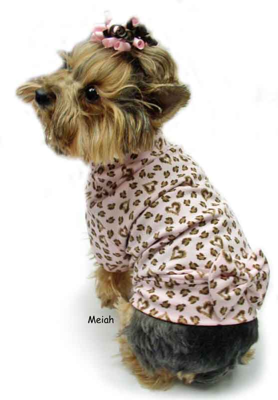 pink with  brown leopard dog clothes