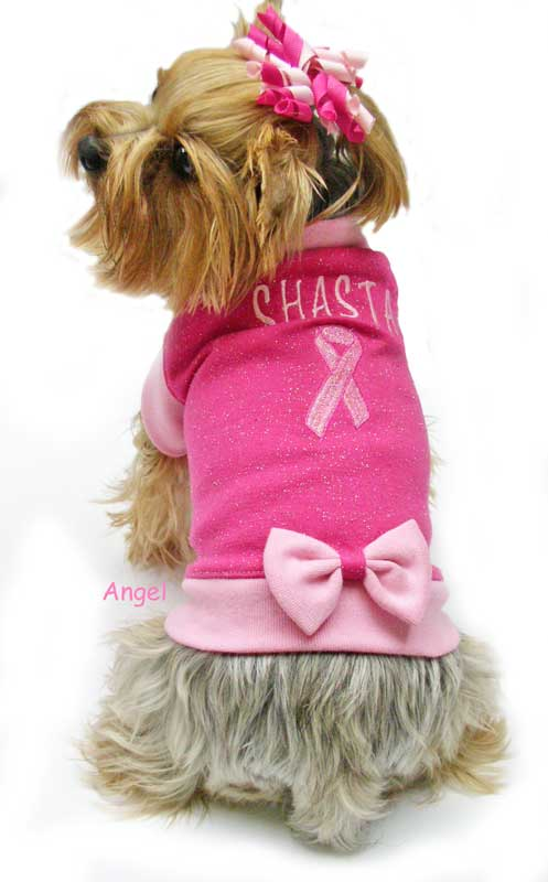 pink breast cancer dog clothes
